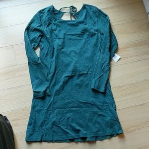 Forever21 Green back tie Dress